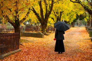 Woman at Funeral - Rock Hill & Fort Mill Wrongful Death Attorney